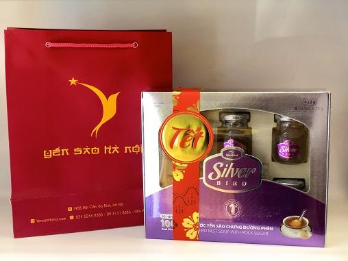 Hộp quà Tết - Súp yến Silver Bird hộp quà 6 hũ 72gr