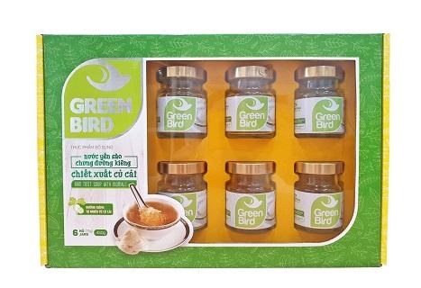Nutri Nest - Hộp quà Nước yến Green Bird chưng đường ăn kiêng 6 hũ 75gr
