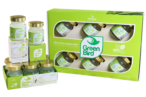 Nutri Nest - Nước yến Green Bird hộp quà 6 hũ 72gr