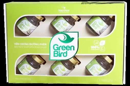 Nutri Nest - Nước yến Green Bird hộp quà 6 lọ