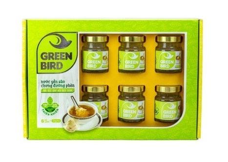 NUTRI NEST - SP Organic - Nước Yến Green Bird Hộp Qùa 6 Hũ 72GR