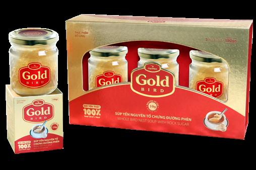 NutriNest - Súp yến nguyên tổ Gold Bird hộp quà 3 lọ